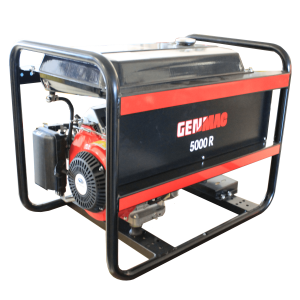 Vermietung Energie Baustrom Event Tragbarer Stromerzeuger GENMAC Click 5000R_ZWO Baumaschinen Service GmbH