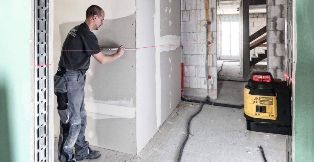 Vermietung Vermessungstechnik Baulaser Innenbereich STABILA LAX400_ZWO Baumaschinen Service GmbH