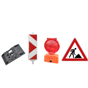Vermietung Baustelleneinrichtung Baustellenbeschilderung_ZWO Baumaschinen Service GmbH