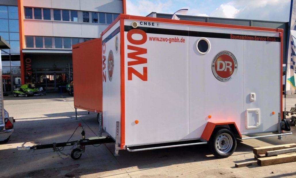 Vermietung Container Bauwagen Schnellläufer D402 CNSE ZWO Baumaschinen Service GmbH