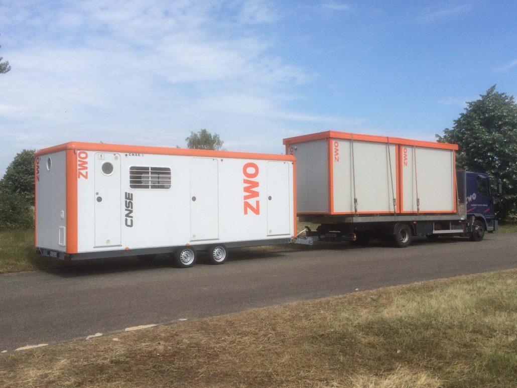 Vermietung Container Bauwagen Schnellläufer RD632 CNSE ZWO Baumaschinen Service GmbH