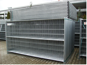 Vermietung Baustelleneinrichtung Baustellenzaun Bauzaun_ZWO Baumaschinen Service GmbH