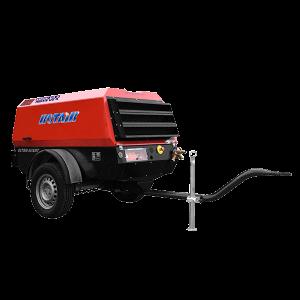 Vermietung Drucklufttechnik Baukompressor Dieselkompressor ROTAIR MDVN36AP_ZWO Baumaschinen Service GmbH