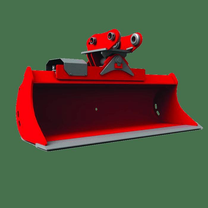 Bagger Anbaugerät hydraulische Grabenraumwanne Cangini ZWO Baumaschinen-Service GmbH