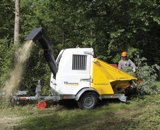 Vermietung Forstmaschinen Holzverarbeitung Holzhäcksler TS INDUSTRIE VIPER 50_ZWO Baumaschinen Service GmbH