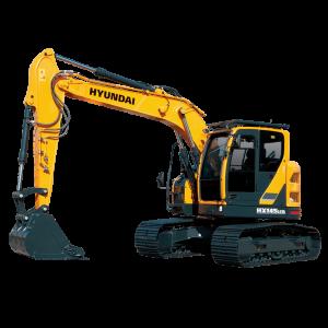 Vermietung Erdbaumaschinen Kettenbagger HYUNDAI HX145LCR ZWO Baumaschinen-Service GmbH