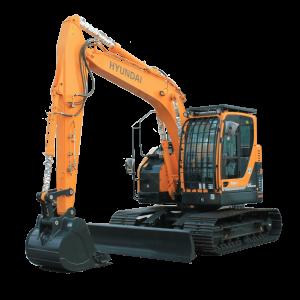 Vermietung Erdbaumaschinen Kettenbagger HYUNDAI R125LCR ZWO Baumaschinen-Service GmbH