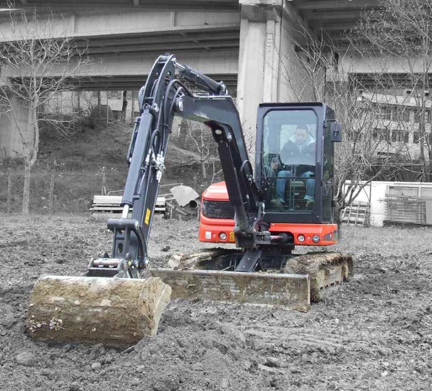 Vermietung Erdbaumaschinen Midibagger Eurocomach ES50ZT ZWO Baumaschinen-Service GmbH