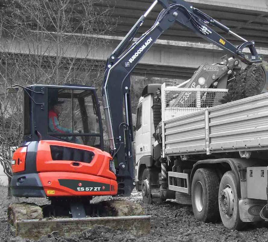 Vermietung Erdbaumaschinen Midibagger Eurocomach ES57ZT ZWO Baumaschinen-Service GmbH