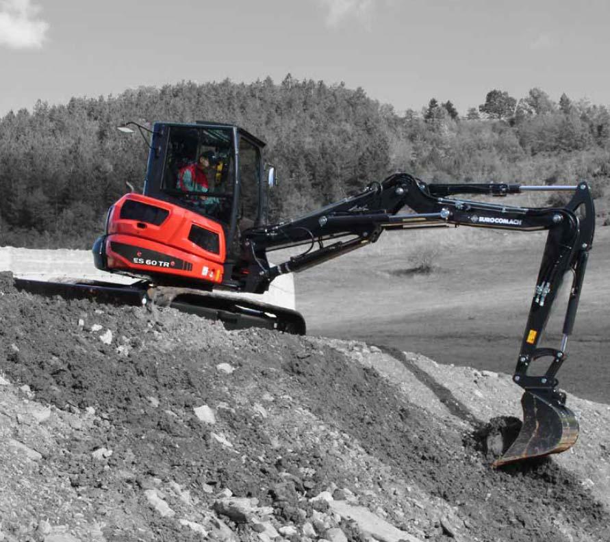 Vermietung Erdbaumaschinen Midibagger Eurocomach ES60TR ZWO Baumaschinen-Service GmbH