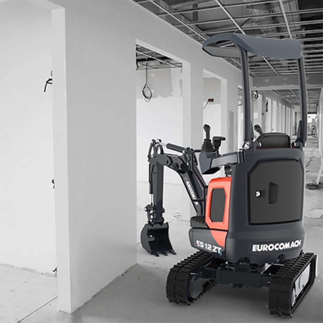 Vermietung Erdbaumaschinen Mikrobagger Eurocomach ES12ZT ZWO Baumaschinen-Service GmbH