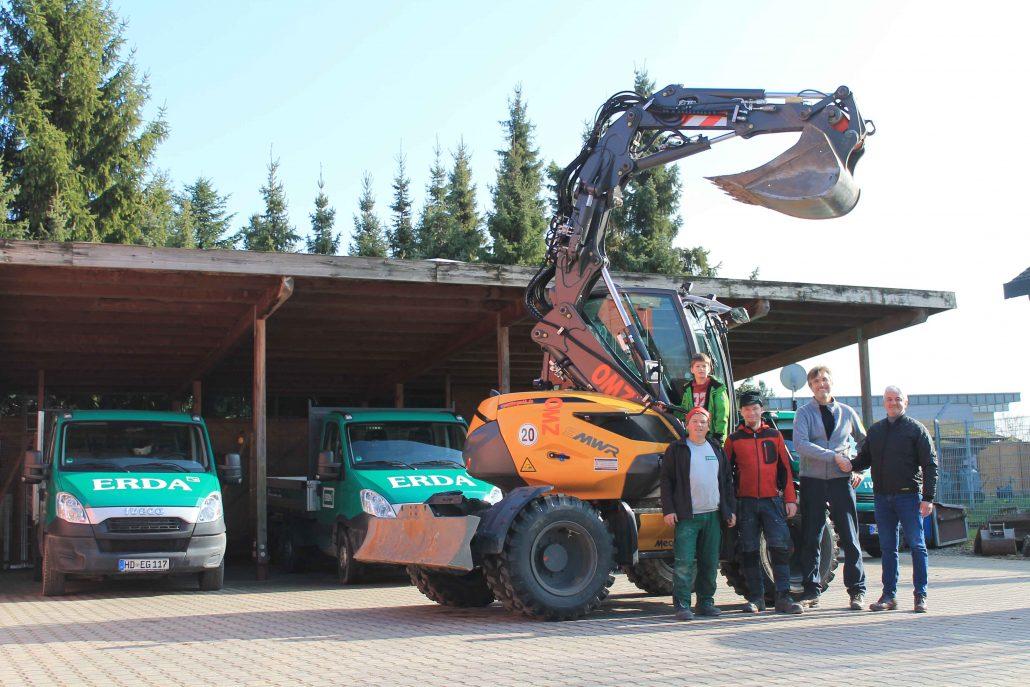 MECALAC Mobilbagger 9MWR ERDA Gartenservice GmbH ZWO Baumaschinen Service GmbH